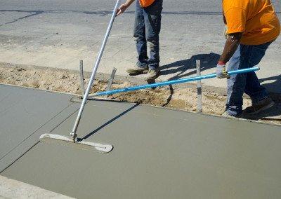 Sidewalk Installation.