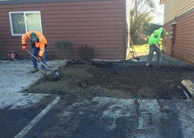 Removing Dumpster Pad/Installing Asphalt