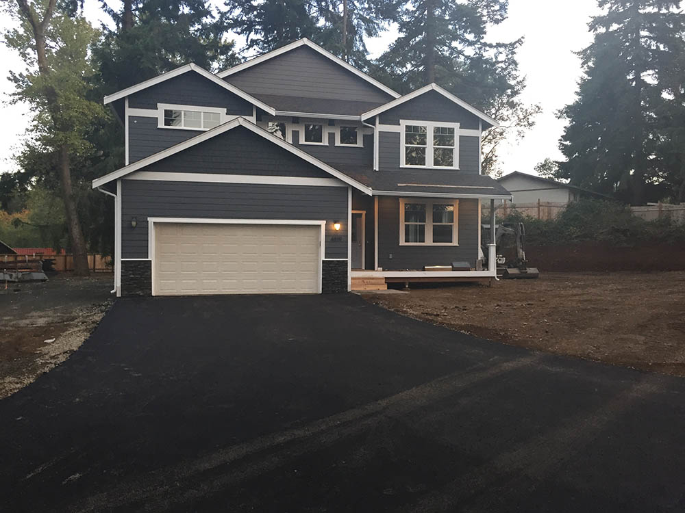 New Construction Asphalt Driveways