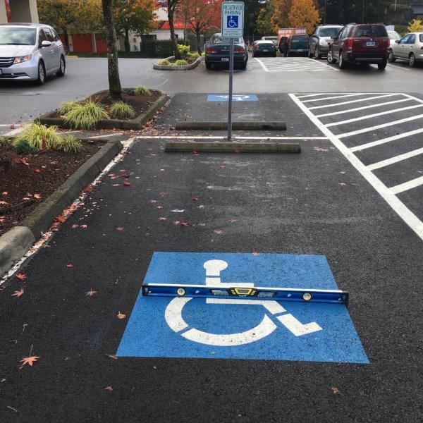 Reserved Parking Spot Striping and Asphalt Repair