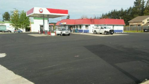 Asphalt Repair at Arnold's Gas Station