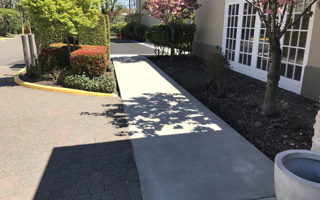 Concrete Sidewalk Repair at Hotel in Tukwila